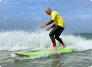 Improver surf lesson Cornwall