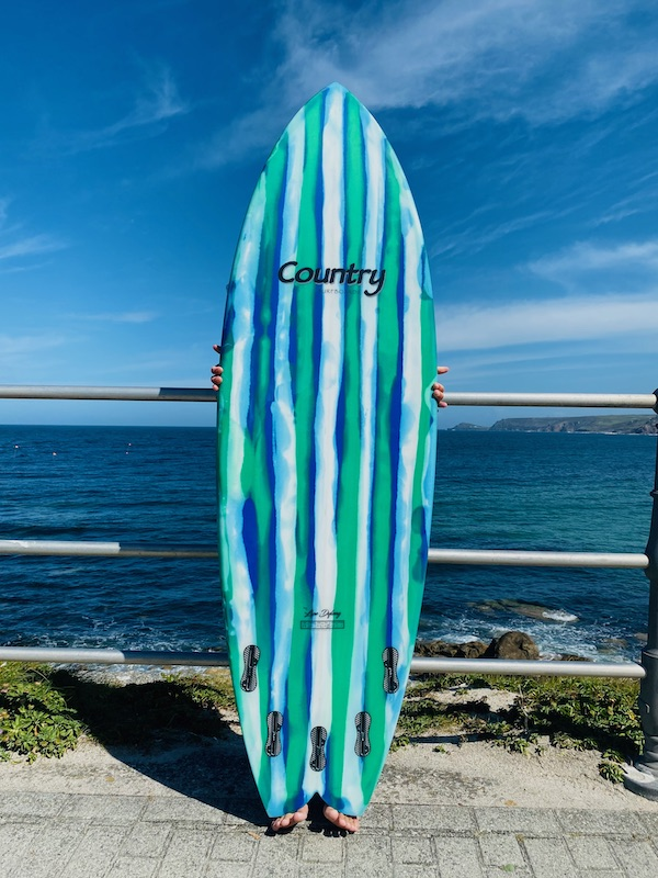country surfboards bottom
